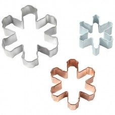 Set of 3 Snowflake Cookie Cutter