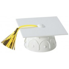 White Graduation Hat