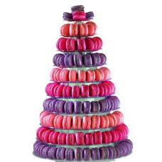 Clear Macaroon Tower: 10 Tiers