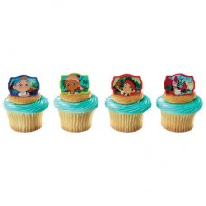 Jake and the Never Land Pirates Never Land Gang Cupcake Rings