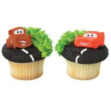 Cars Mater & McQueen Cupcake Rings