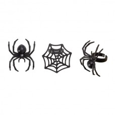 Spider and Spider Web Rings
