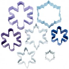 Set of 7 Snowflakes Cookie Cutter