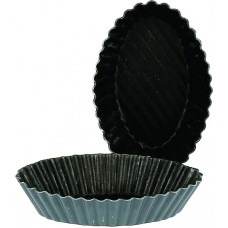 Stripped Oval Petit Four Mould 50mm
