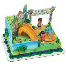 Dora the Explorer & Diego Play Time Signature Cake DecoSet®
