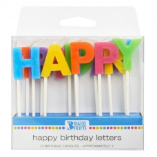 Bright Happy Birthday Letter Candle