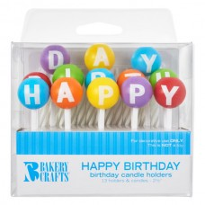 3D Round Happy Birthday Letters Candle