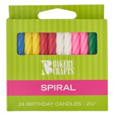 Assorted Colors Spiral Candle