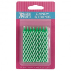 Green Candy Spiral Stipe Candle