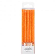 Orange Slim Glitter Candle