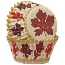 Mini Leaf  Baking Paper Cups