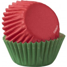 Mini Baking Paper Cups Red and Green
