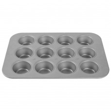 """MUFFIN MOULD GLAZED 2 3/4"""", 12 CAVITIES"""