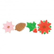 Poinsettia and Holly Sugars Assortment