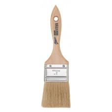 "2"" Flat White Boar Bristle Pastry Brush"