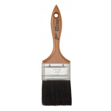 "2.5"" Flat Black Boar Bristle Brush"