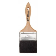 "3"" Flat Black Boar Bristle Brush"
