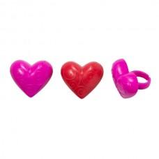 Scroll Heart Rings