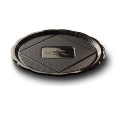 Black Round Platter 22cm