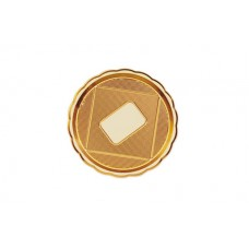 Gold Round Platter 24cm