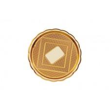 Gold Round Platter 28cm