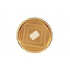 Gold Round Platter 32cm