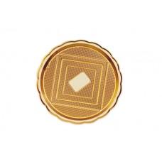 Gold Round Platter 34cm