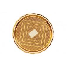 Gold Round Platter 42cm