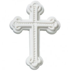 Ornate White Gum Paste Cross