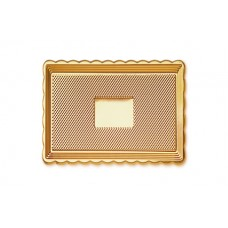 Gold Rectangular Platter 15x20cm