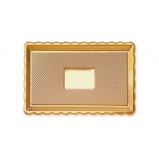Gold Rectangular Platter 15x25cm
