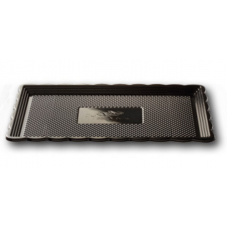 Black Rectangular Platter 15x25cm