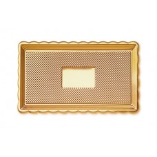 Gold Rectangular Platter 15x30cm