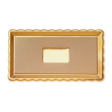 Gold Rectangular Platter 15x35cm