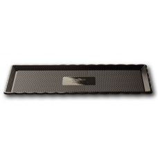 Black Rectangular Platter 15x35cm