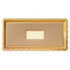 Gold Rectangular Platter 15x40cm