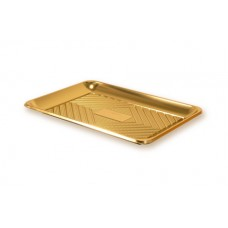 Gold Rectangular Deep Platter 32x22cm