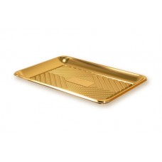 Gold Rectangular Deep Platter 34.5x25cm