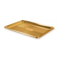 Gold Rectangular Deep Platter 37.5x28cm