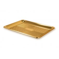 Gold Rectangular Deep Platter 39.5x30cm