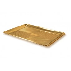 Gold Rectangular Deep Platter 46x35cm