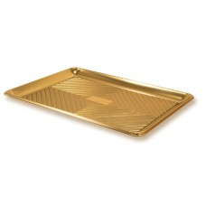 Gold Rectangular Deep Platter 51x37cm