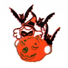 SALE  Lay-On Pumpkin, bats, witch