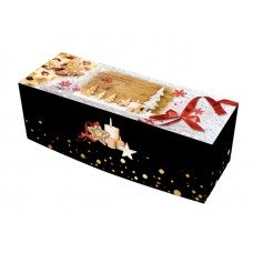 Enchanted Yule Log Box 25x11x11cm