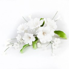 Open Lily Sprays - White