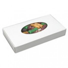 White Box with Oval Window 1/2lb