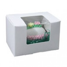 1/4lb White Box with Window #4710