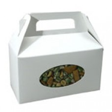 1lb White Box with Handle with Oval Window