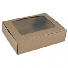 Kraft Box with Window 1/4 lb