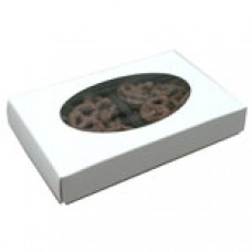 1/2lb White Box with Oval Window